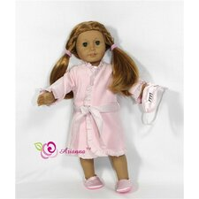 "Nutcracker 4 Piece Doll Pajama Set for 18"" American Girl Doll"