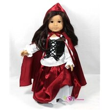 "Riding Hood 4 Piece Doll Outfit Set for 18"" American Girl Doll"