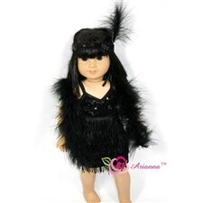"Charleston Beauty Flapper Doll Dress for 18"" American Girl Doll"