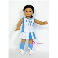 "<strong>Arianna</strong> Lacrosse Uniform for 18"" American Girl Doll"
