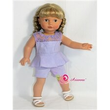 "Gossip Girls Peplum Romper Fits 18"" American Girl Doll"