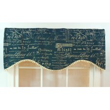 <strong>RLF Home</strong> Document Shaped Cotton Curtain Valance