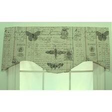Antique Ledger Shaped Cotton Blend Curtain Valance