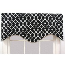 Chippendale Shaped Cotton Rod Pocket Scalloped Curtain Valance