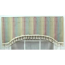 Cheque Cotton Curtain Valance