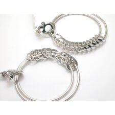 Modern Silver Designs Dangling Rings Earrings