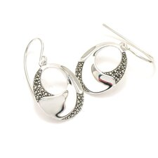 Modern Marcasite 24 Marcasite Earrings