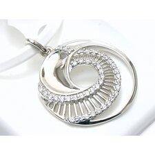 Modern Silver Designs Nautilus Cut 40 Cubic Zirconia Pendant