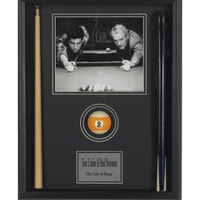 Wood Framed 'Color of Money' Memorabilia