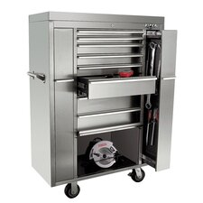 "<strong>Viper Tool Storage</strong> 41"" 8 Drawer Stainless Steel Ultimate Box Cabinet"