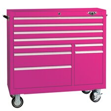 "<strong>The Original Pink Box</strong> 41"" 9 Drawer Rolling Cabinet"