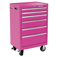 "<strong>The Original Pink Box</strong> 26"" 6 Drawer Roll Away Cabinet"