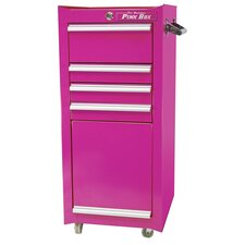 "<strong>The Original Pink Box</strong> 16"" 4 Drawer Salon / Tool Cart"