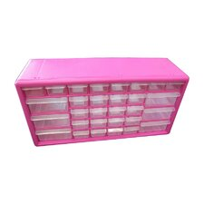 <strong>The Original Pink Box</strong> 30 Compartment Parts Organizer