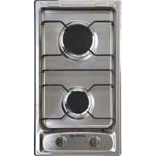 "12"" Gas 2 Burner Cooktop"