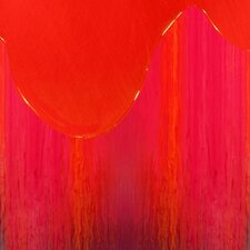 Abstract Orange Drip by Jordan Carlyle Graphic Art