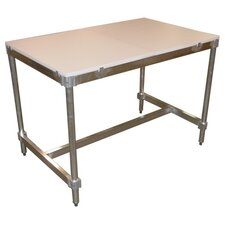 Aluminum I Frame Utility Table