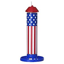 American Flag Seed Tube Bird Feeder