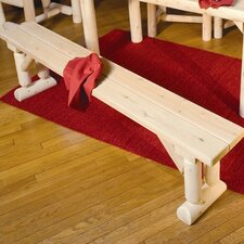 <strong>Rustic Natural Cedar Furniture</strong> Wooden Kitchen Bench