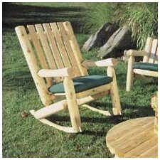<strong>Rustic Natural Cedar Furniture</strong> High Back Indoor / Outdoor Rocking Chair