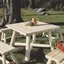 <strong>Rustic Natural Cedar Furniture</strong> Large Square Dining Table