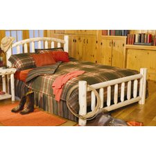 <strong>Rustic Natural Cedar Furniture</strong> Log Slat Bed