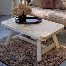 <strong>Rustic Natural Cedar Furniture</strong> Rectangular Coffee Table