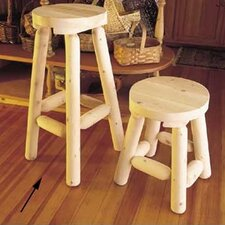 "<strong>Rustic Natural Cedar Furniture</strong> 24"" Barstool"