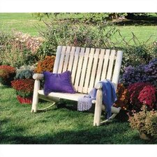 <strong>Rustic Natural Cedar Furniture</strong> Indoor / Outdoor Double Rocking Chair