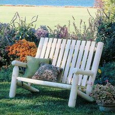 <strong>Rustic Natural Cedar Furniture</strong> High Back Wood Garden Bench