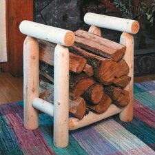 <strong>Rustic Natural Cedar Furniture</strong> Log Style Cedar Firewood Rack