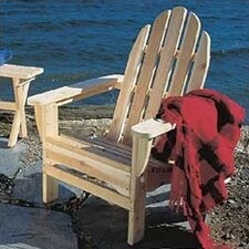 <strong>Rustic Natural Cedar Furniture</strong> Adirondack Chair [Folds for Storage]