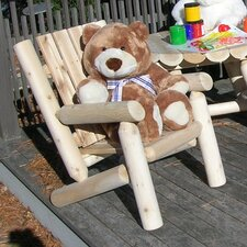 <strong>Rustic Natural Cedar Furniture</strong> Junior Adirondack  Log Chair