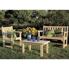 <strong>Rustic Natural Cedar Furniture</strong> English Lounge Seating Group