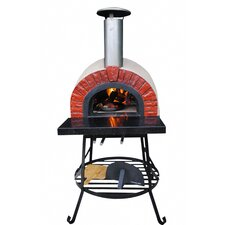 Outdoor Wood Fired Oven with Red Brick Arch