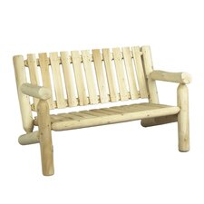 <strong>Rustic Natural Cedar Furniture</strong> Wood Garden Bench