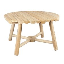 <strong>Rustic Natural Cedar Furniture</strong> Round Umbrella Dining Table