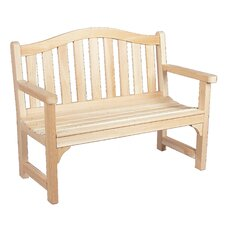 Camel Back Wood Cedar Bench