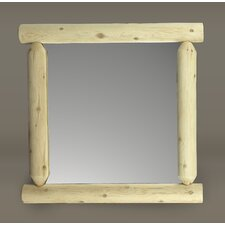 <strong>Rustic Natural Cedar Furniture</strong> Wilderness Mirror