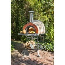 <strong>Rustic Natural Cedar Furniture</strong> Outdoor Wood Fired Oven with Red Brick Arch