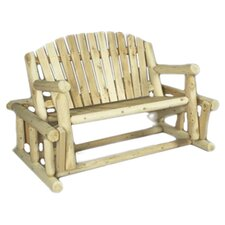 Log Style Wood Garden Bench