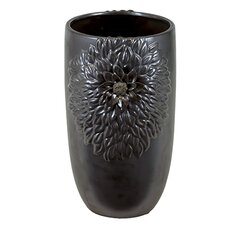 <strong>Urban Trends</strong> Ceramic Vase Gunmetal