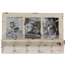 Wooden Picture Frame w/ Hooks