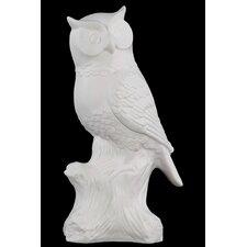 Large Porcelain Owl Figurine