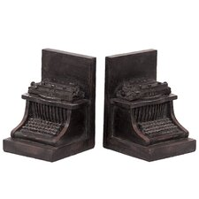 <strong>Urban Trends</strong> Resin Typewriter Bookend Set of Two (Set of 2)