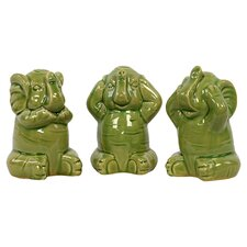 Ceramic Elephant Three Piece Set