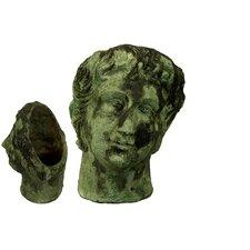 Stoneware Woman Head Bust