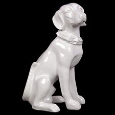 Ceramic Sitting Dog Statue