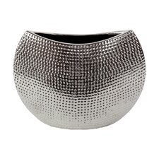 Ceramic Vase Chrome Silver