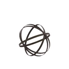 Metal Orb Dyson Sphere Design Decor Grey (5 circles)